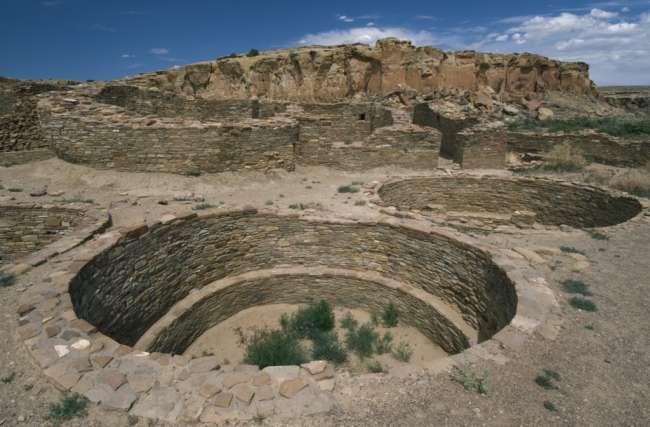 Chetro Ketl, ceremonial kiva, Chaco Culture National Historic Park, New Mexico, USA