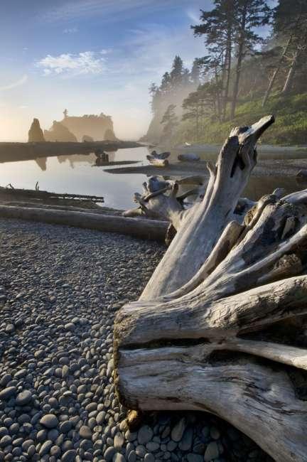 Sunset at Ruby Beach, Olympic National Park, Washington, USA