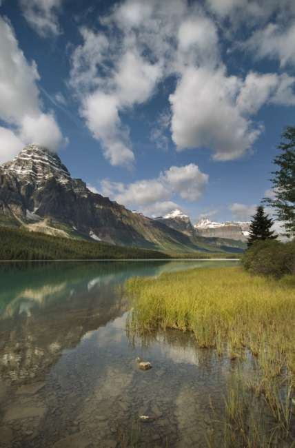 Waterfowl lake along the Icefields parkway, Banff National Park, Banff, Canada