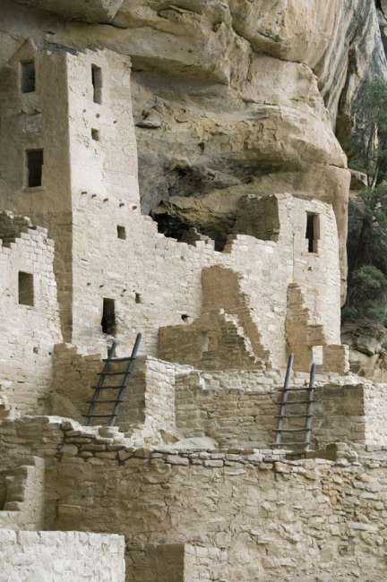 Cliff Palace ruins, Mesa Verde National Park, Colorado, USA
