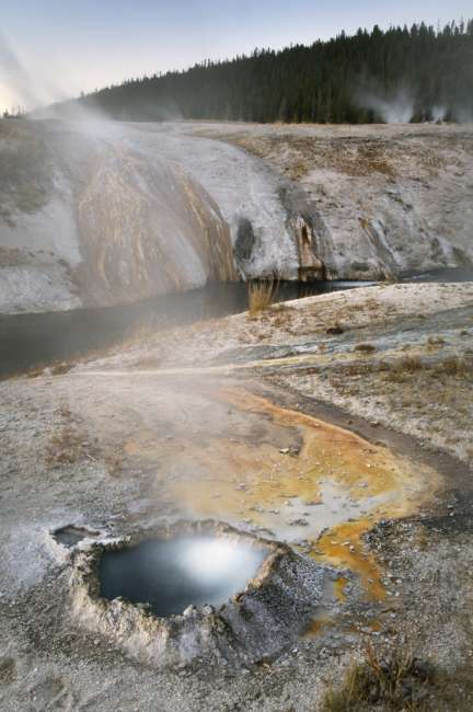 Thermal vent in Upper Geyser Basin, Yellowstone National Park, Wyoming, USA