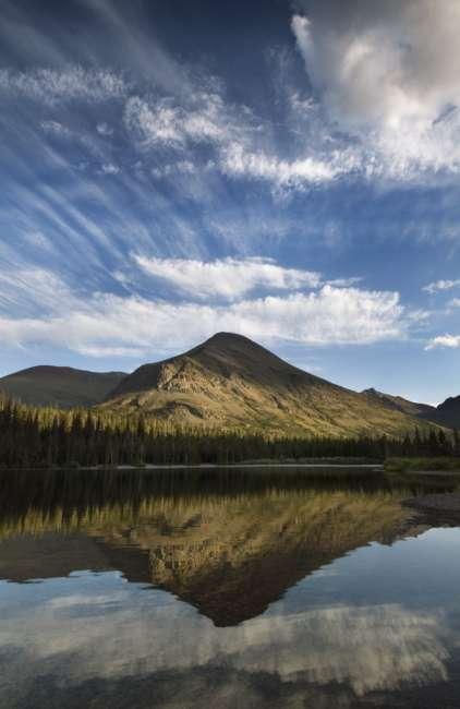 Sunset at Two Medicine lake, Waterton Glacier International Peace Park, USA - Canada