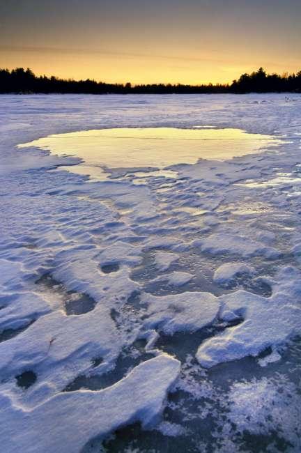 Sunset near Olson Bay, Rainy Lake, Voyageurs National Park, Minnesota, USA
