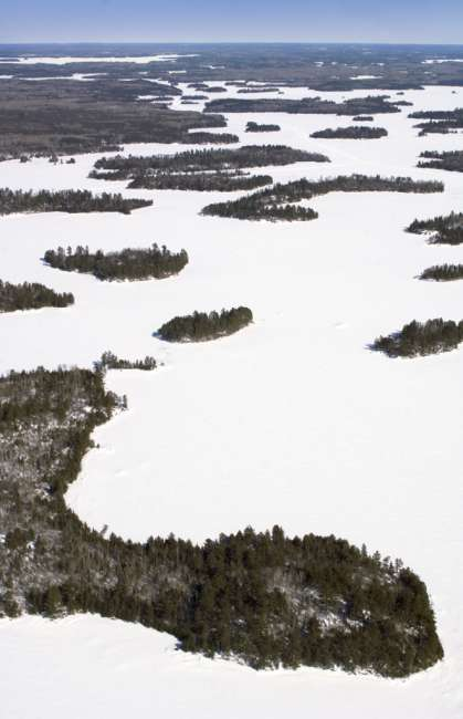 Aerial photographs with park pilot Jim Hummel, Voyageurs National Park, Minnesota, USA