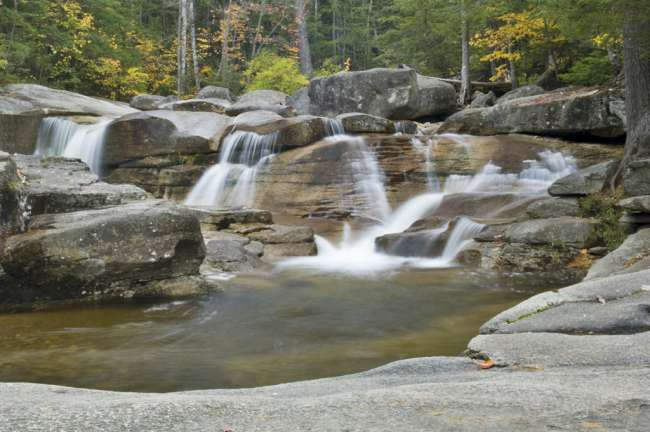 Waterfall cascades, Diana's Bath trail, The White Mountains National Forest, New Hampshire