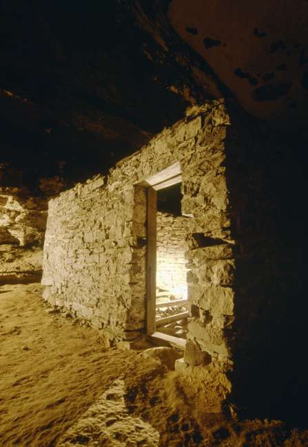 Tuberculosis hut, Main Cave, Mammoth Cave, Mammoth Cave National Park, Kentucky, KY, USA