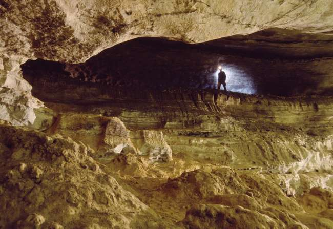 View from Boothe's Ampitheatre, Mammoth Cave, Mammoth Cave National Park, Kentucky, KY, USA