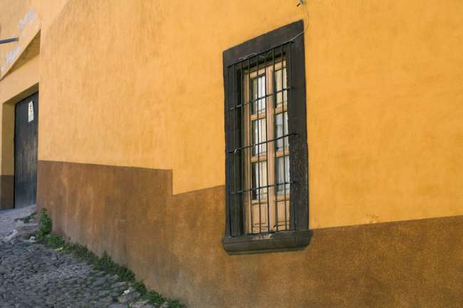 Architecture on the streets of San Miguel de Allende, State of Guanajuato, Mexico