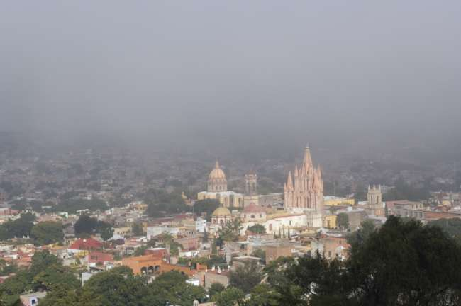 View from an overlook, San Miguel de Allende, State of Guanajuato, Mexico
